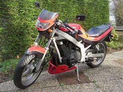 Front of the Suzuki GS 500 E motorbike - stock photo