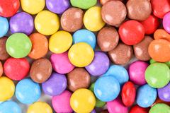 Group Of Sweet Colorful Candy - stock photo