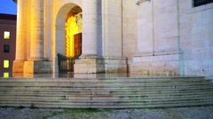 Church of Santa Engracia in Lisbon, Portugal Stock Footage