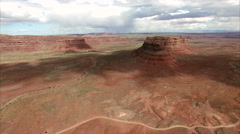 Aerial of Bear's Ears Utah. Stock Footage