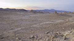 Tracking MoCo Time Lapse of Afterglow over Desert Terrain  Stock Footage