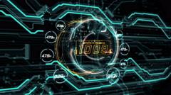 Futuristic interface, technology background Stock Footage