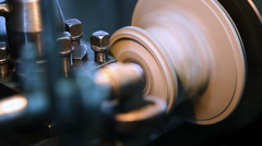Turning equipment machinery, part of the lathe Stock Footage