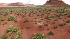 Aerial of Bear's Ears Utah Stock Footage