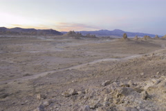5K Tracking MoCo Time Lapse of Afterglow over Desert Terrain  Stock Footage