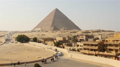 Time Lapse of Great Pyramids & Sphinx Daytime at Giza - Egypt Stock Footage