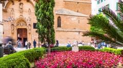 Iglesia de San Miguel, , Palma de Mallorca, Balearic Islands, Spain Stock Footage