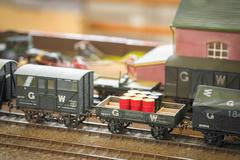 goods train - stock photo
