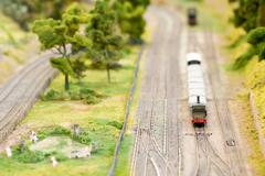 Model freight train Stock Photos