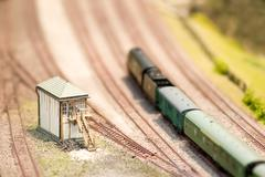model signal box - stock photo