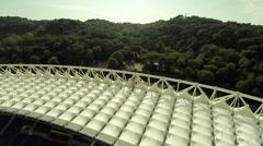 Olympic stadium, Rome. Stadio Olimpico. Del Debbio - Moretti (1927) Stock Footage
