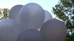 Balloons outside party decoration Stock Footage