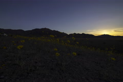 5K 3axis MoCo Time Lapse of Sunrise over 2016 Super Bloom at Death Valley Stock Footage