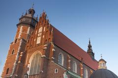 Poland, Kraków, Kazimierz, West  End of Corpus Christi Gothic Church Stock Photos
