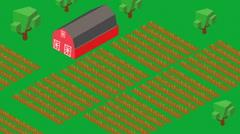 Growing farm farmland grow crops Stock Footage