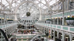 People walking in the Stephen's Green Shopping Centre - stock footage