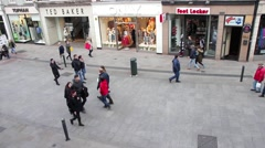 People walking on the Grafton Street Stock Footage