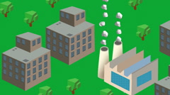 Isometric factory industrial production 2 Stock Footage