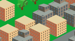 Isometric style city urban area Stock Footage