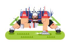 American football player - stock illustration