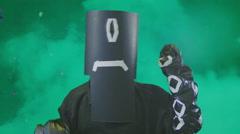 Tentacle monster bmovie b-movie Stock Footage