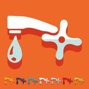 Flat design: faucet Stock Illustration