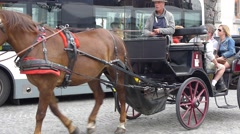 Luxembourg, Carriage with Horses - stock footage
