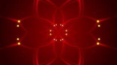 Red abstract background and flowing light, loop Stock Footage