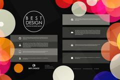 Set of brochure, poster design templates in abstract background style - stock illustration