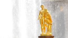 Peterhof.Fragments of the Main cascade..Saint Petersburg - stock footage