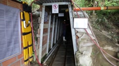 Entrance into a mine in the mountains of Colombia Stock Footage