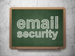 Safety concept: Email Security on chalkboard background Piirros
