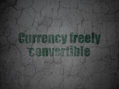 Currency concept: Currency freely Convertible on grunge wall background Stock Illustration