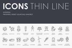 Invention Thin Line Icons - stock illustration