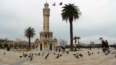 Aegean Sea time lapse clock tower - stock footage