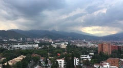 Cityscape time-lapse of Medellin, Colombia from El Poblado (3) Stock Footage