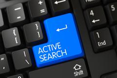 Active Search Button - stock illustration