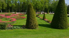Peterhof.View of the park.Slow motion.Saint Petersburg Stock Footage