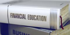 Book Title of Financial Education - stock illustration