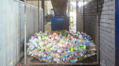 Plastic is sorted by color. Waste sorting.  4k+. Time lapse Stock Footage