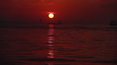 aegedon sea sunset time lapse color - stock footage