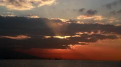 Aegean Sea time lapse sun - stock footage