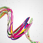 Abstract wave background - stock illustration
