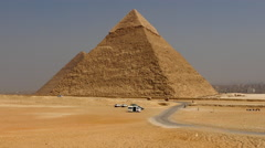 Zoom Out - The Great Pyramids of Giza - Egypt Stock Footage