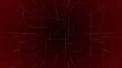 digital technology numbers backgorund LOOP red - stock footage