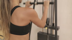 Pulley Stretch Exercise - stock footage