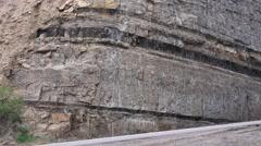 Highway travel, UTAH, COAL COUNTRY, seam of coal Stock Footage