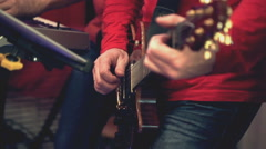 Man playing guitar Stock Footage