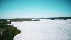 Aerial Drone Shot Northern Ontario Canada Arkistovideo