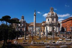 Roman Trajan Forum Stock Photos